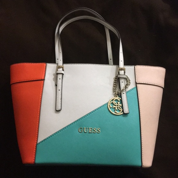 5cd161f7d1f Guess Bags   New Turquoise Multi Color Delaney Tote Bag   Poshmark